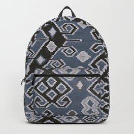 Vintage Kilim Rug | Ethnic Style Grey Blue Backpack