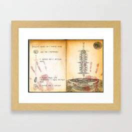 Page from the Daedra Worshiper's Cookbook Framed Art Print