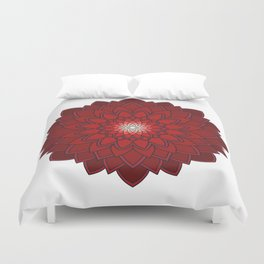 Ornamental round flower decorative element Duvet Cover