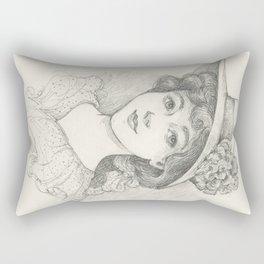 Sketch of an Edwardian Lady Rectangular Pillow