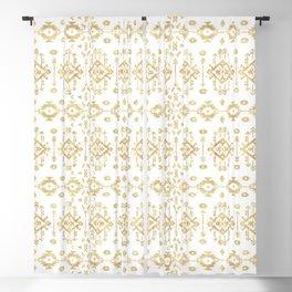 Luxury gold geometric tribal Aztec pattern Blackout Curtain