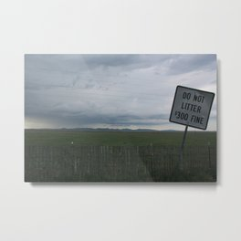 Care for our land Metal Print