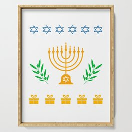 Hanukkah Ugly Shirt Hanukkah Jewish Festival Gift Serving Tray