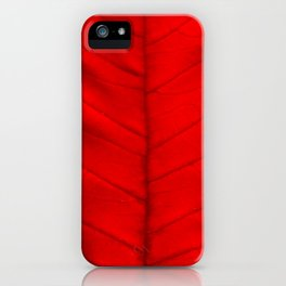Poinsettia's leaf iPhone Case