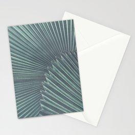 Tropical Palm Leaf Matte Teal Stationery Cards