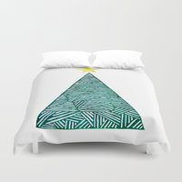 christmas tree Duvet Covers featuring Christmas tree by Bridget Davidson