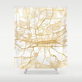 JOHANNESBURG SOUTH AFRICA CITY STREET MAP ART Shower Curtain