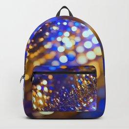Gold Blue bokeh Backpack