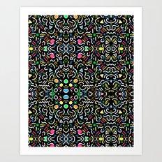 retro confetti Art Print