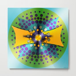 Shiny Atomic Object D'Art Metal Print