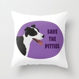 Save The Pitties Throw Pillow