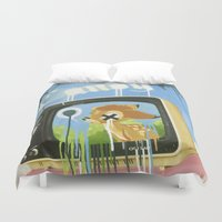 candy Duvet Covers featuring CANDY by Chris Arran