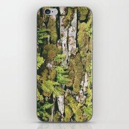 fern covered drystone wall. lake district, uk. iPhone Skin