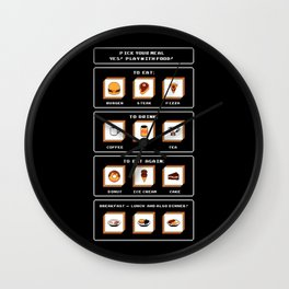 Picking Food Wall Clock