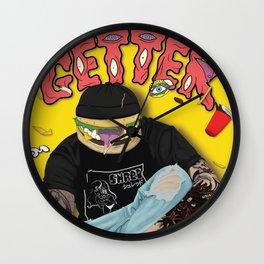 Getter burger head Wall Clock