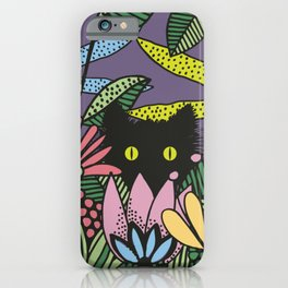 Cat in the Garden playing Hide and Seek iPhone Case