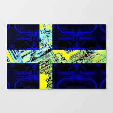circuit board Sweden (Flag) Canvas Print