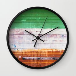 NYC Spray Paint (Color) Wall Clock