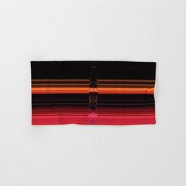 Bright Red Stripes with a Twist Hand & Bath Towel