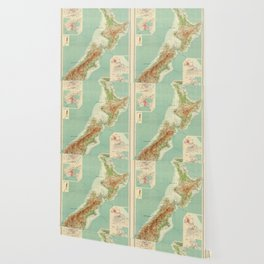 Vintage Map of New Zealand (1922) Wallpaper
