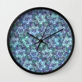Blue Succulent Wall Clock