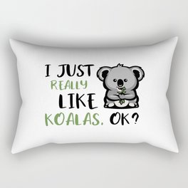 I Just Really Like Koalas Rectangular Pillow