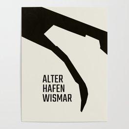 Wismar Alter Hafen Grotesk Poster