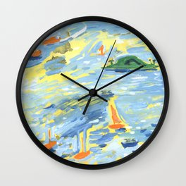 A Lovely Day on the Bay Wall Clock
