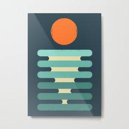 Minimalist ocean Metal Print