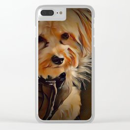 Copper the Havapookie Clear iPhone Case