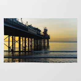 Paignton Pier At Sunrise Rug