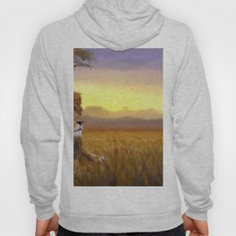Spectacularly Majestic Male African Lion Relaxing In Savannah At Sundown Ultra HD Hoody