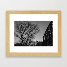 Sunset over Manayunk  Framed Art Print