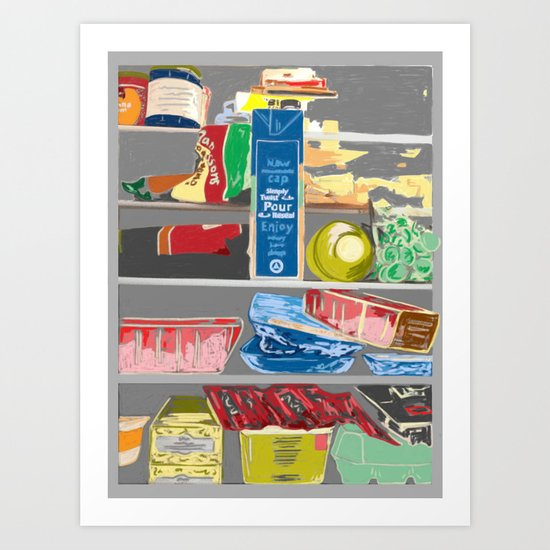 Fridge, 2013. Art Print