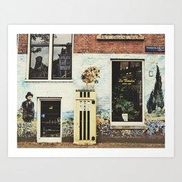 Van Gogh coffee shop Art Print