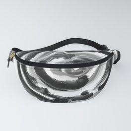 Brushstroke 4  black white Fanny Pack