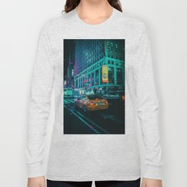 Taxi in the City (Color) Long Sleeve T-shirt