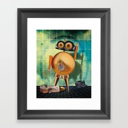 Gold robot Framed Art Print