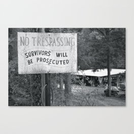 Prosecuted  Canvas Print