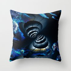 Meeting in Space Throw Pillow