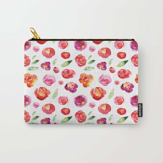 Watercolor flowers #3 Carry-All Pouch