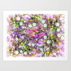 La Distracción Púrpura Art Print