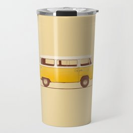 Van - Yellow Travel Mug