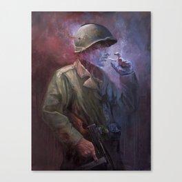 The Last Smoke Canvas Print