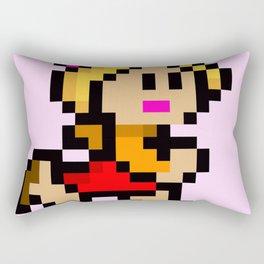 Pixel Girl Running 1 Rectangular Pillow