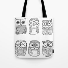 Six Pack (owl collective) Tote Bag