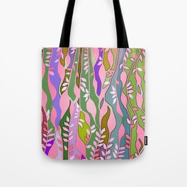 Long colored leaves Tote Bag