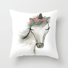 Zoey the Unicorn Throw Pillow