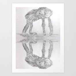 Chimpanzee Sketch Art Print