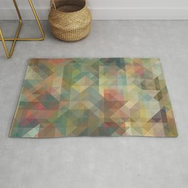 Chic Abstract Retro Triangles Mosaic Pattern Rug